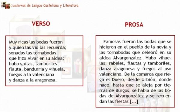 (Ejemplos de prosa y verso.)