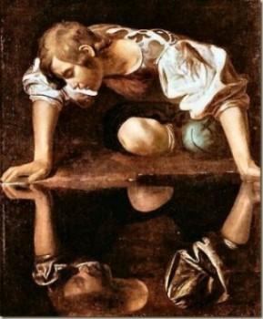 (Ilustración del mito de Narciso.)