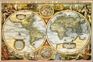 (Significado de Geografía. Mapas antiguos.)