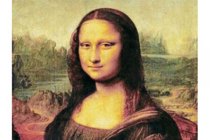 (La Gioconda, también conocida como La Mona Lisa.)