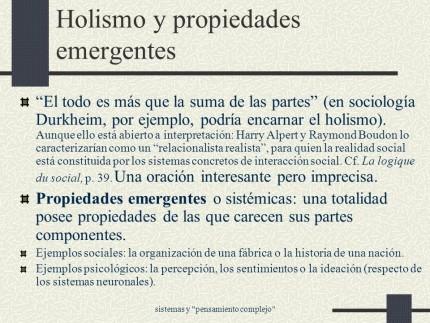 (El holismo.)
