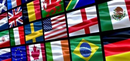 (Banderas de algunas naciones.)