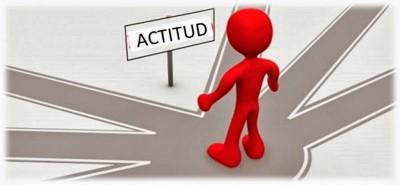 (La actitud es la posición que se toma frente a algo)
