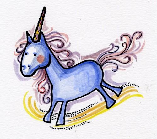 (Unicornio. Ilustración)